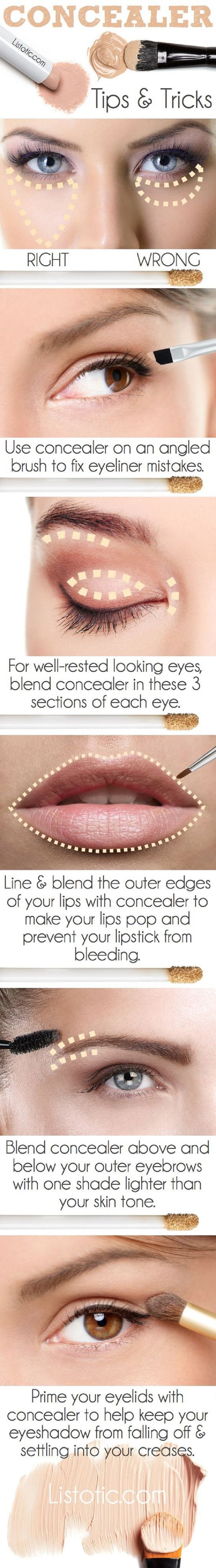 Use Your Concealer The Right Way - 13 Best Makeup Tutorials and Infographics for...