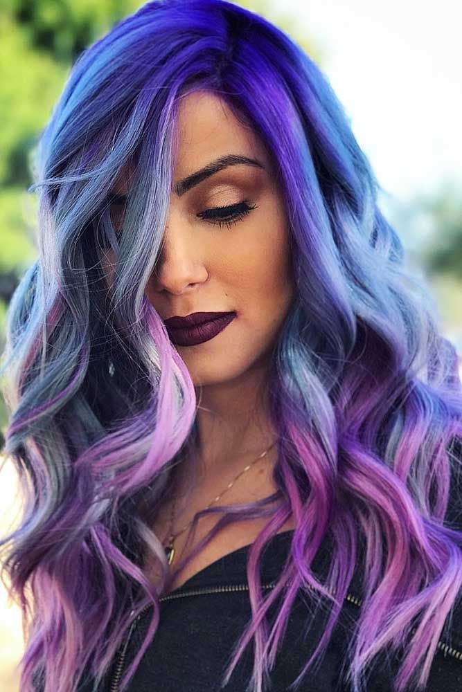 Purple hair is for women who are not afraid to express themselves. Click to disc...