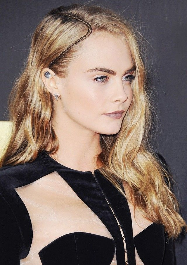 Cara Delevingne's intricate braid part is the only hair accessory you need