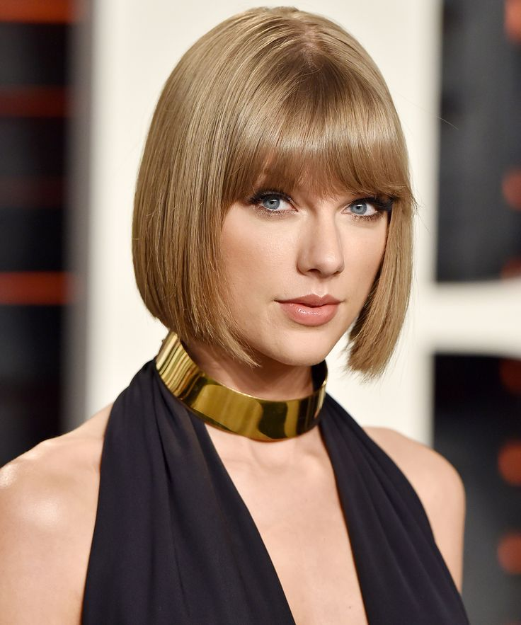 Best Hairstyles For 2017 2018 Taylor Swifts Blunt Bob With Bangs