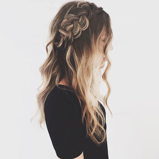 big braids and tousled curls