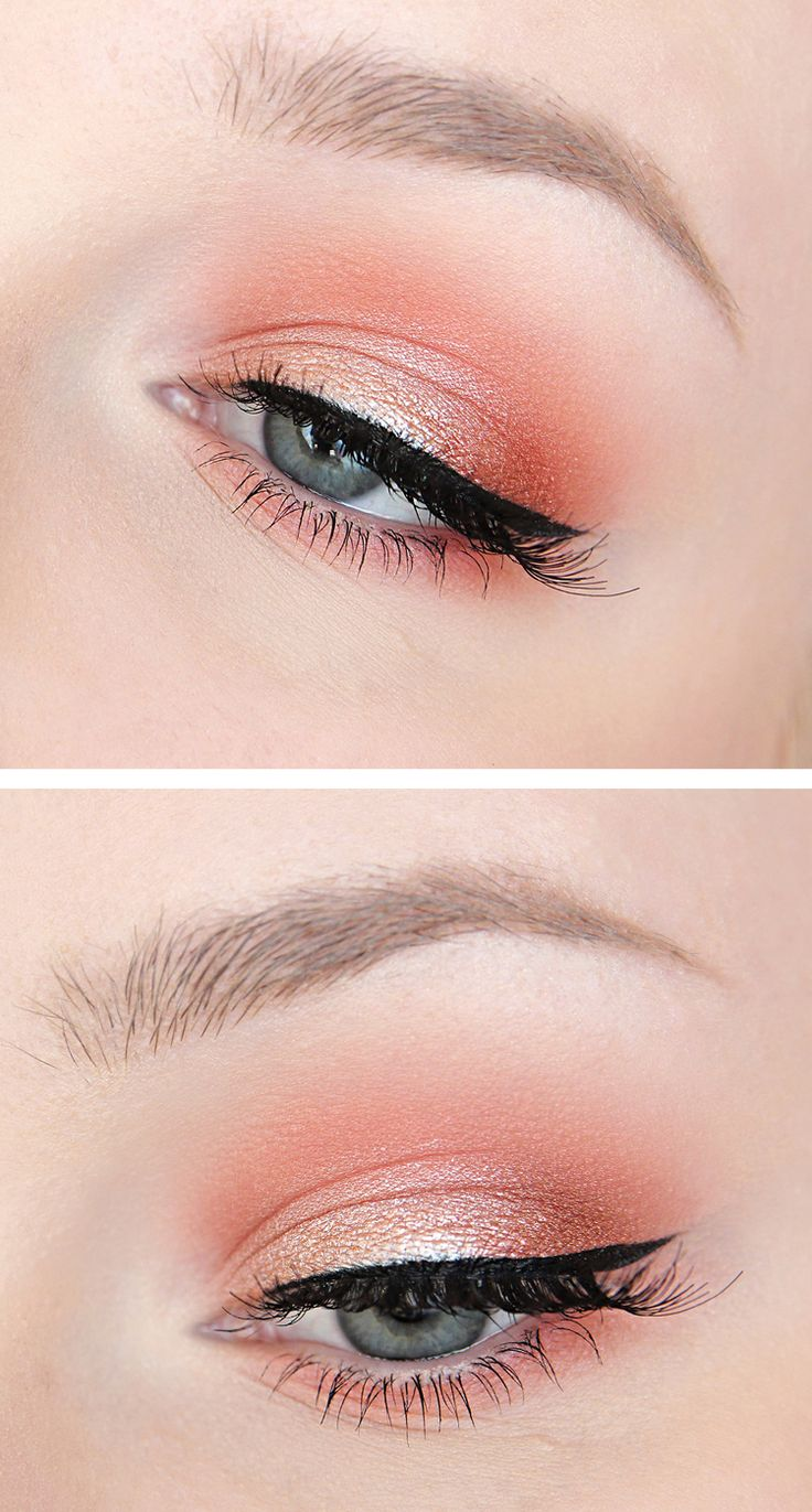Coral / Peach / Orange shimmering eyeshadow. Recreate this look with Mary Kay Su...