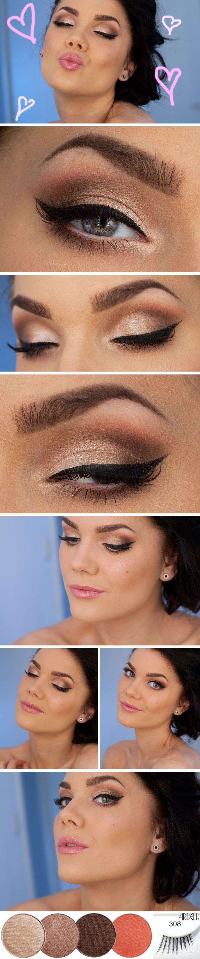 DIY :: Valentine's Day Makeup by Linda Hallberg :: CLICK for product list...usin...