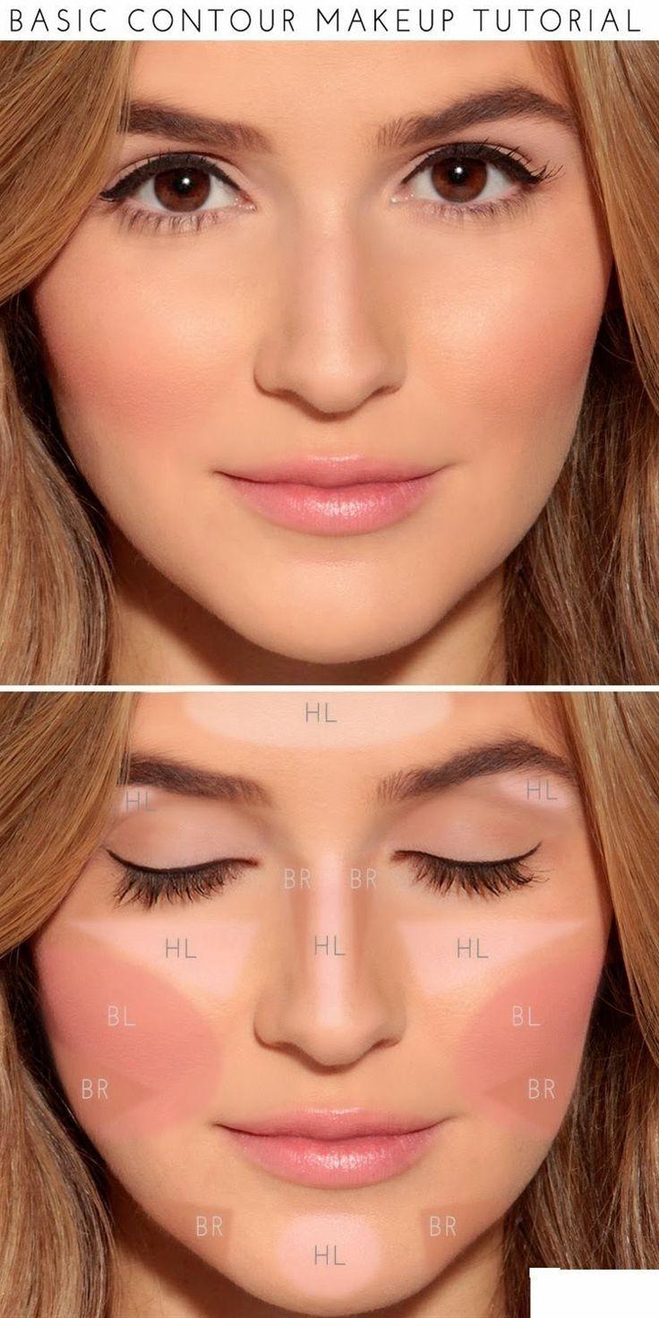 How To : Basic Contour Makeup Tutorial