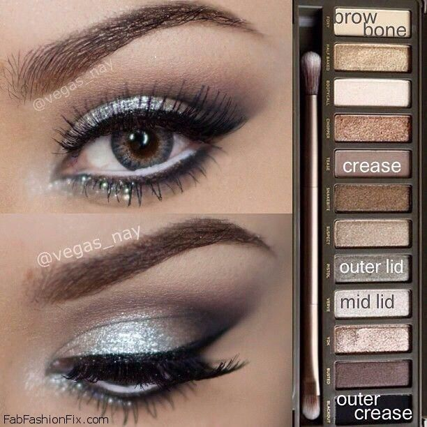 Silver Smoky Eyes Perfect For Any Occasion!:) Tutorials And Pictures #SummerVibe...
