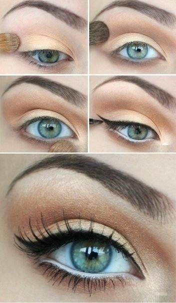Simple tip to make your eyes stand out using white and black liner fancytemplest...