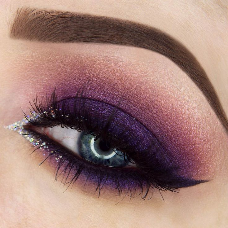 This royal 'Purple Rain' look by Rebecca Seals is drop dead gorgeous! Sh...