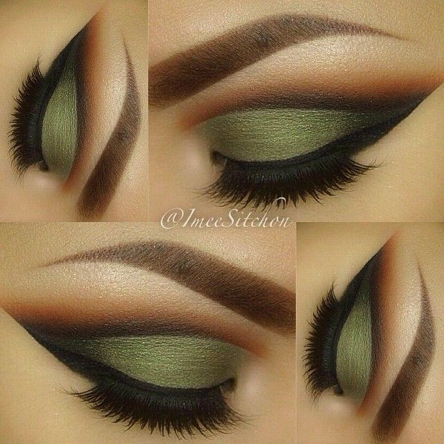 gorgeous. army green and the cut crease is so nicely done.