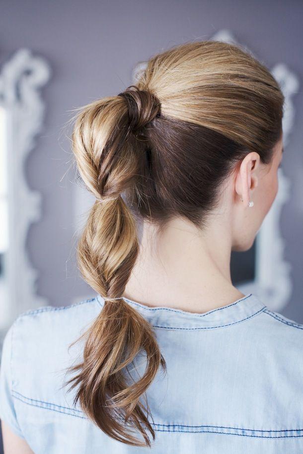 a gorgeous pull through ponytail