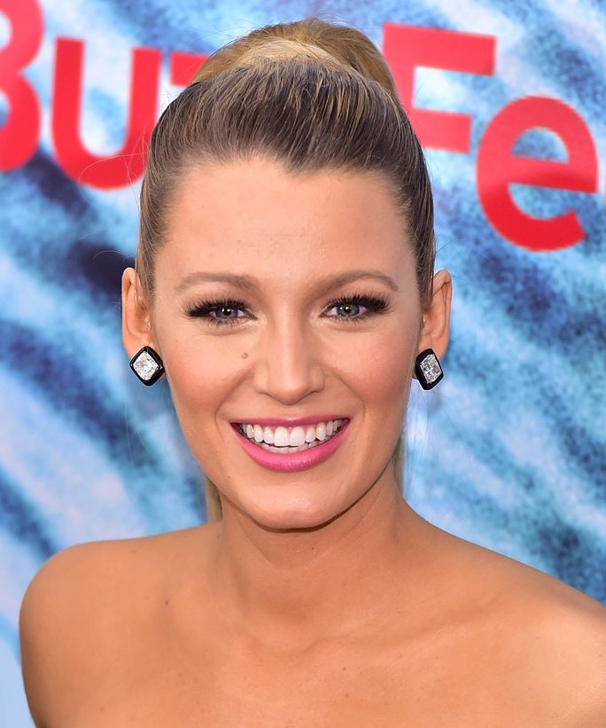 Blake Lively looks so chic with a slicked back updo
