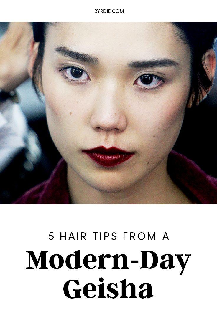 Hair tips that geishas swear by