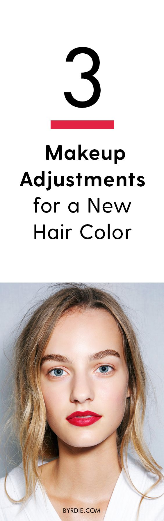 How to adjust your makeup to your new hair color