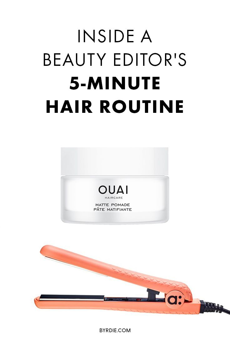 How to do your hair in five minutes