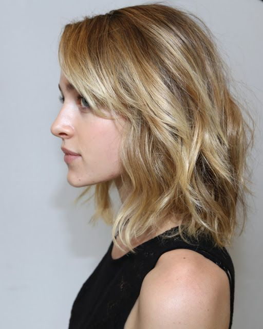 softly tousled curls with bangs