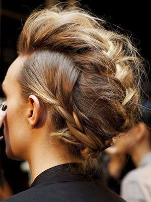 How To Recreate One of the Coolest braided faux hawk Hairstyles on Pinterest | a...