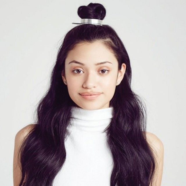 This simple top knot is stunning with the silver sleek cuff