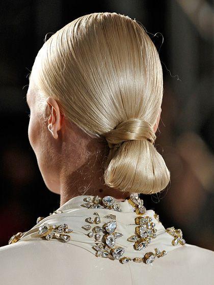 Tidy loop bun hairstyle