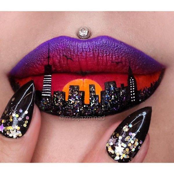 Cityscape Lip Art                                                               ...