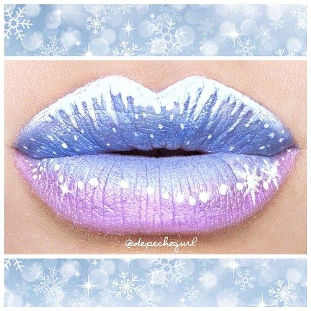 FROZEN INSPIRED by depechegurl #cosmetics #makeup #lip