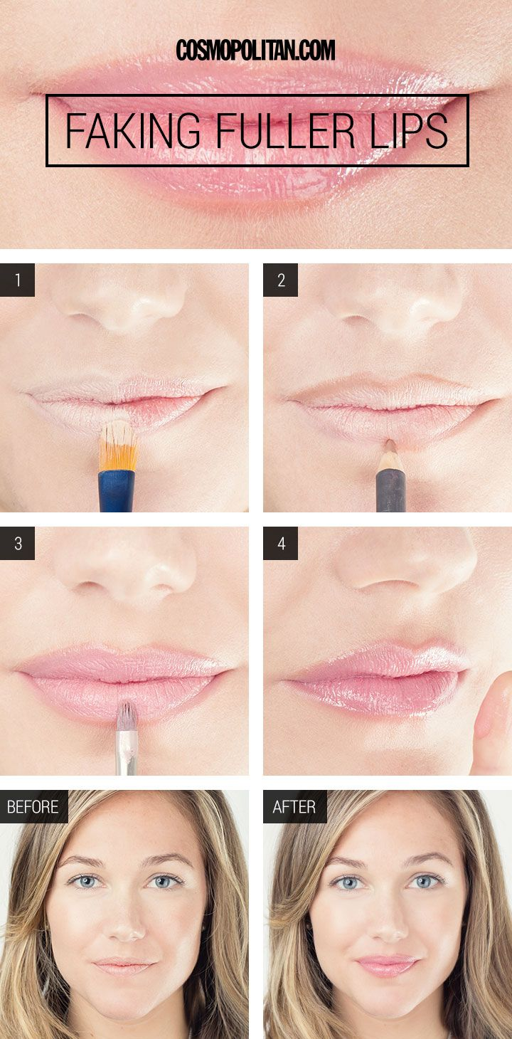 FULLER LIPS MAKEUP TUTORIAL: If your lips aren't as full as you'd like t...