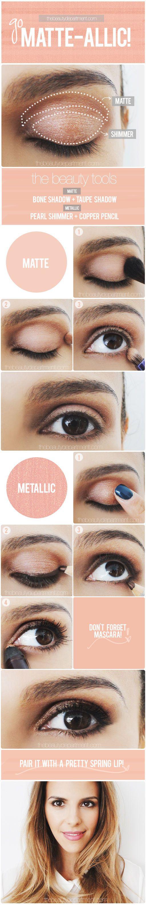 How to balance matte & metallic shadows!