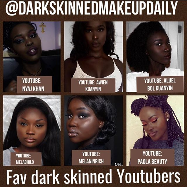 It's so hard finding dark skinned makeup tutorials  on YouTube that feature ...