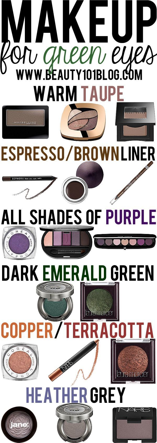 Love all these helpful articles with tips: what eyeshadows suit your eye colour?...