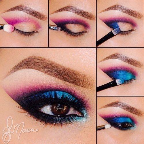 Love It Pink And Blue Smokey ❤️vanuska❤️ - for more beauty, makeup, and ...
