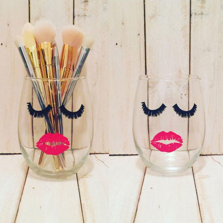 Love wine? Love makeup? Well then you need these brush holders from Etsy. Made f...