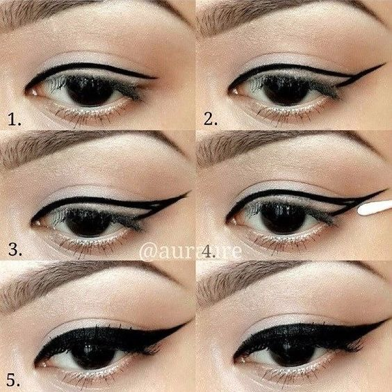 Step by Step Winged Eyeliner Makeup Tutorial: