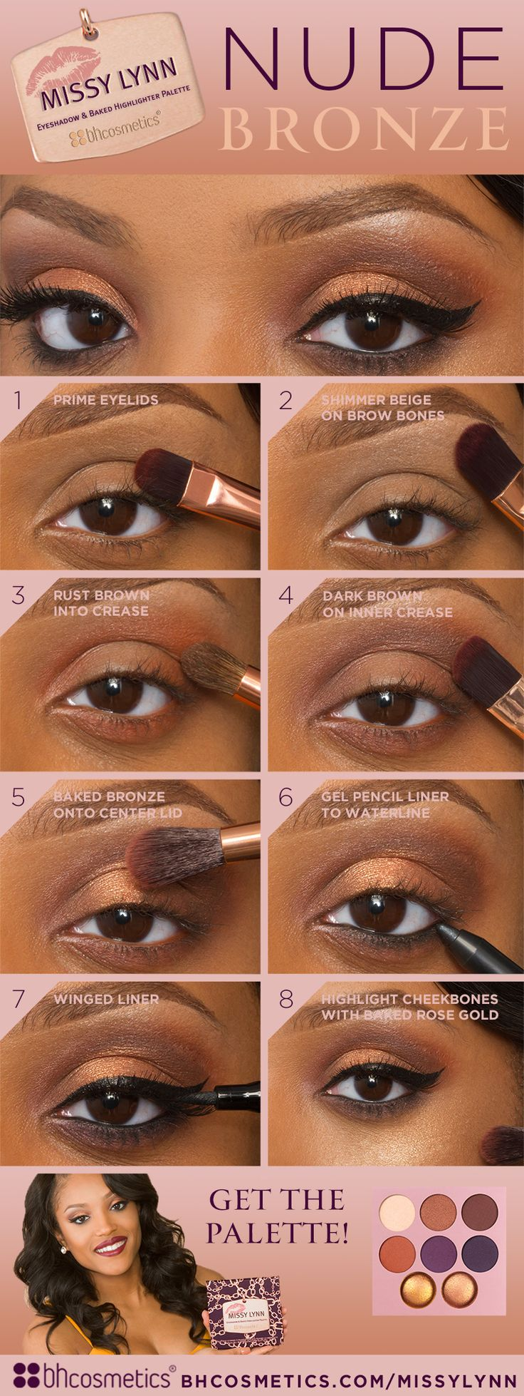 There's nothing prettier than a nude bronze look. Check out our official blo...