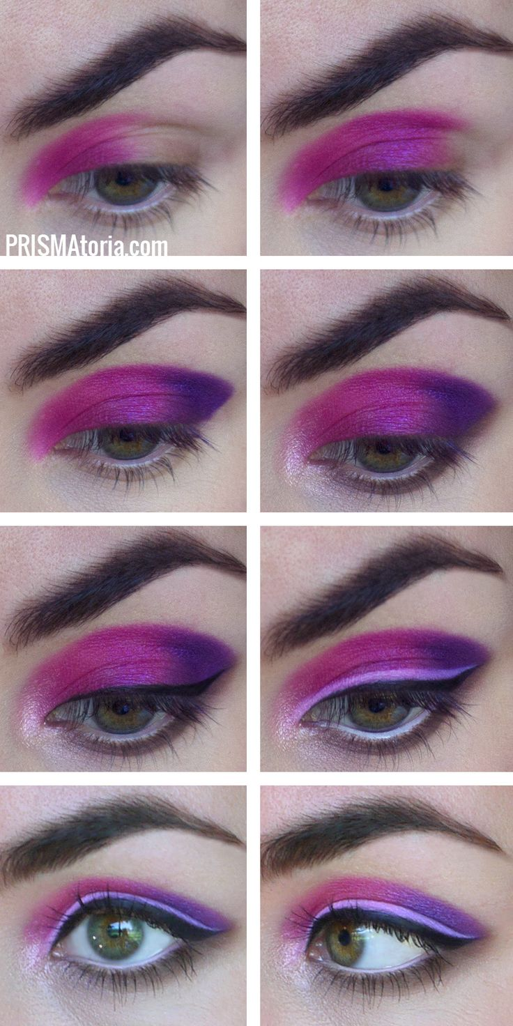 UD electric palette pinks+purples makeup tutorial Urban Decay Electric palette e...