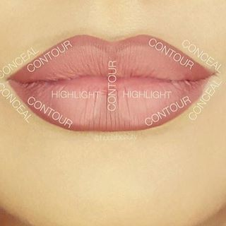 Up your lip game with this contour guide. | 13 Charts That Will Help You Get Rea...