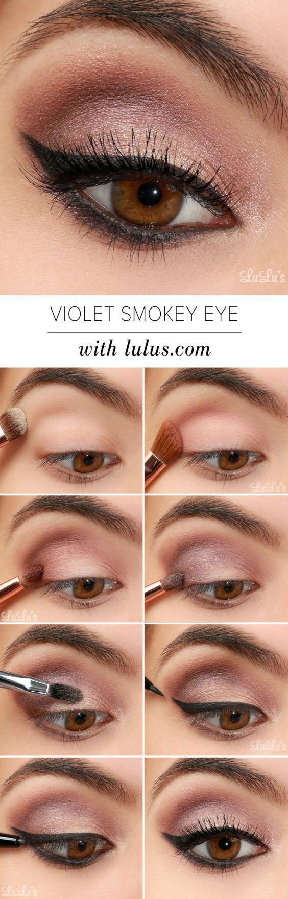 Violet Smokey Eye Makeup Tutorial offers a dreamy neutral look with a subtle pop...