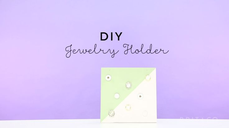 Watch this video tutorial to learn how to make a DIY jewelry holder.