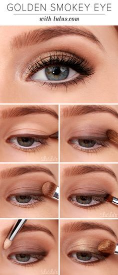 You've seen a smokey eye before, but not quite like this! Check out our Gold...