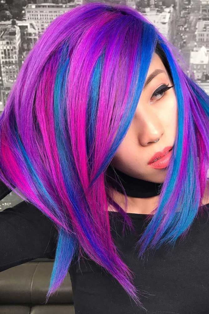 We have gathered here all the trendiest and gorgeous blue hair color ideas inspi...