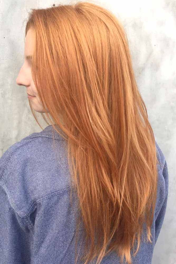 A strawberry blonde hair shade is often chosen by women because it makes them ap...