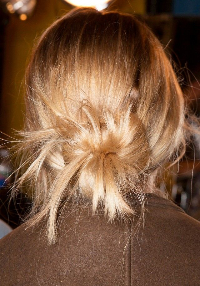 Messy, effortless bun