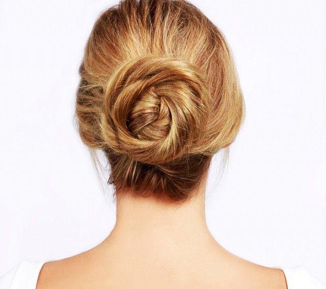 A gorgeous spiraled bun