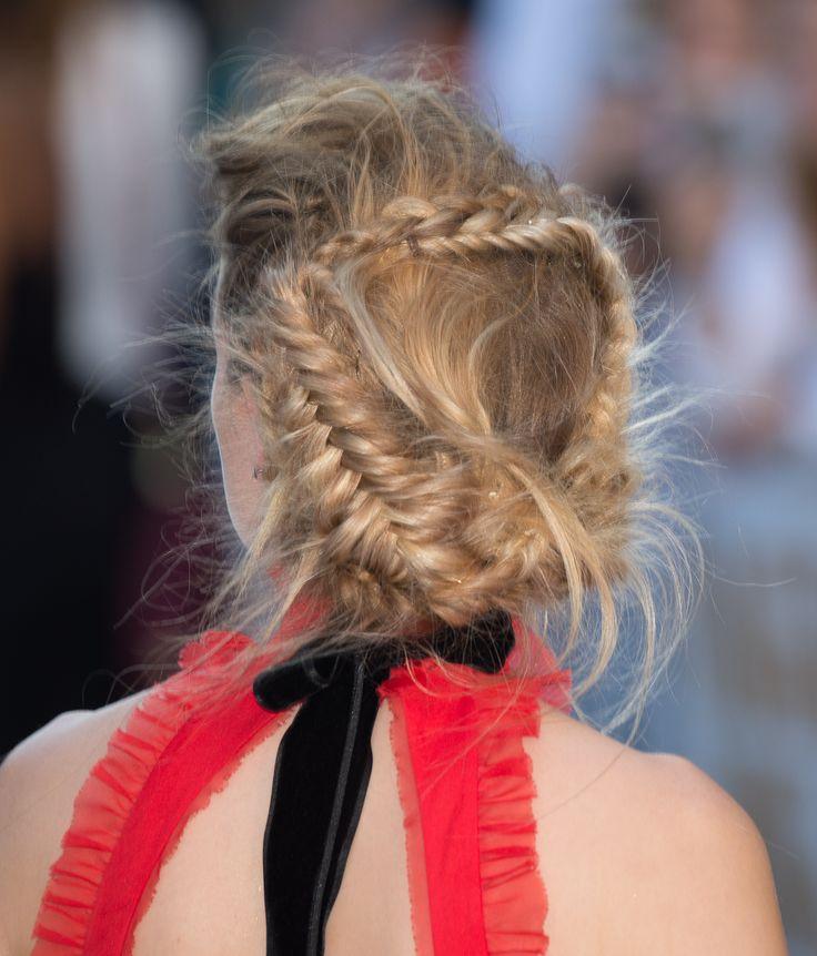 Amber Heard's wrap around fishtail braid is absolutely breathtaking