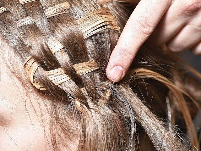 Basket-weaved hair, courtesy of Trapstar x Puma