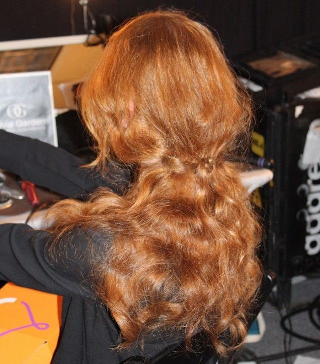 Beautiful red curls at Alice + Olivia