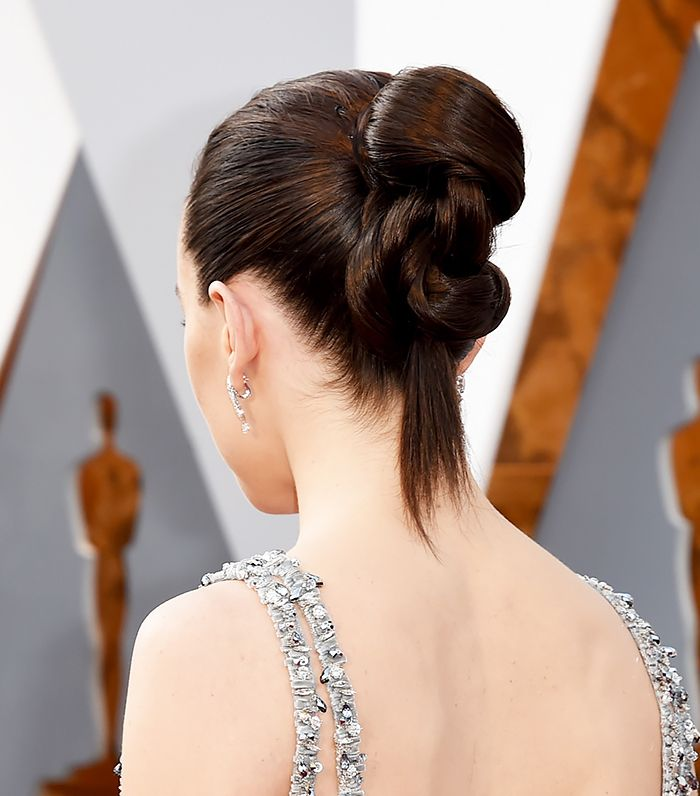 Daisy Ridley's unreal updo makes two words come to mind: hair goals