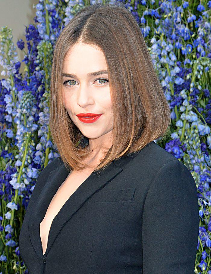 Emilia Clarke's sleek lob