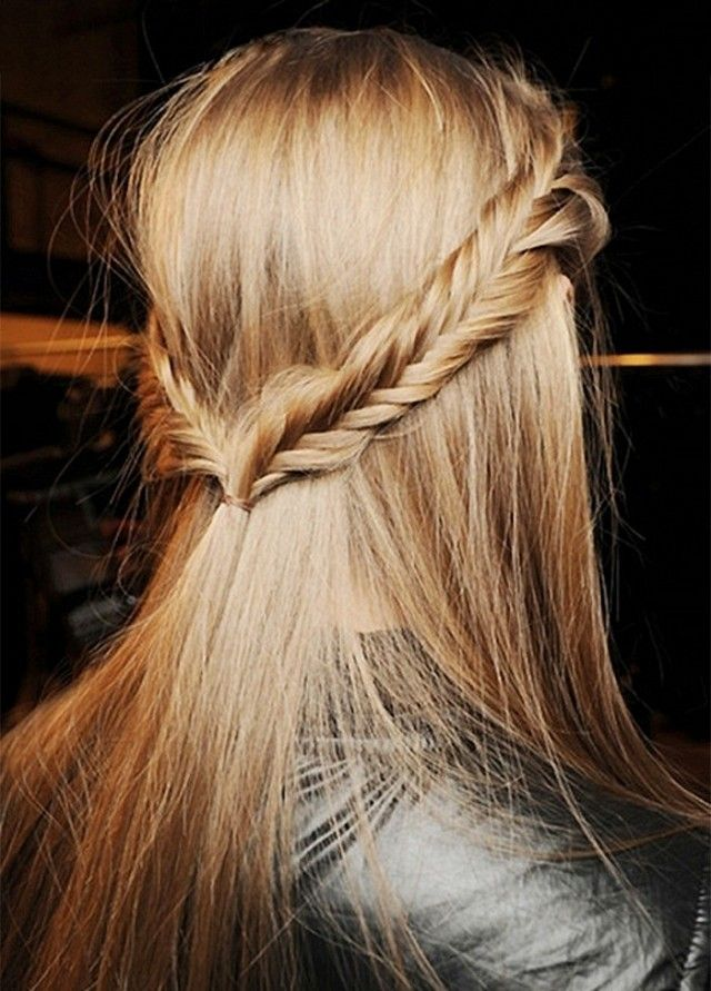 Half-up with fishtail braid