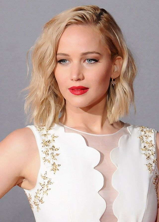 Jennifer Lawrence's wavy lob