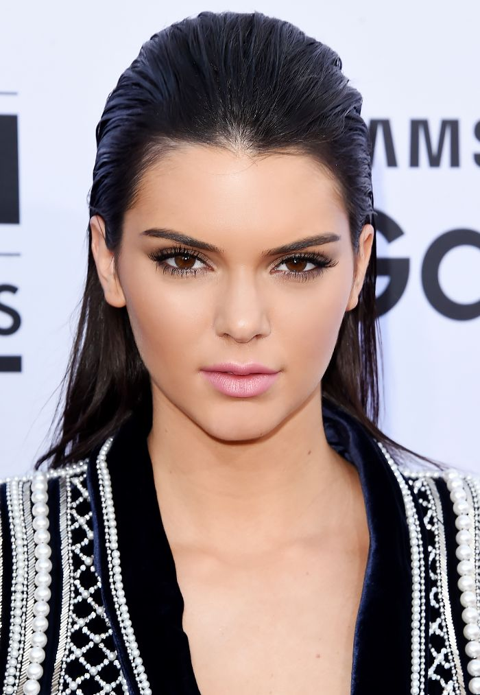 Kendall Jenner pulls off the slicked-back hair trend exceptionally well