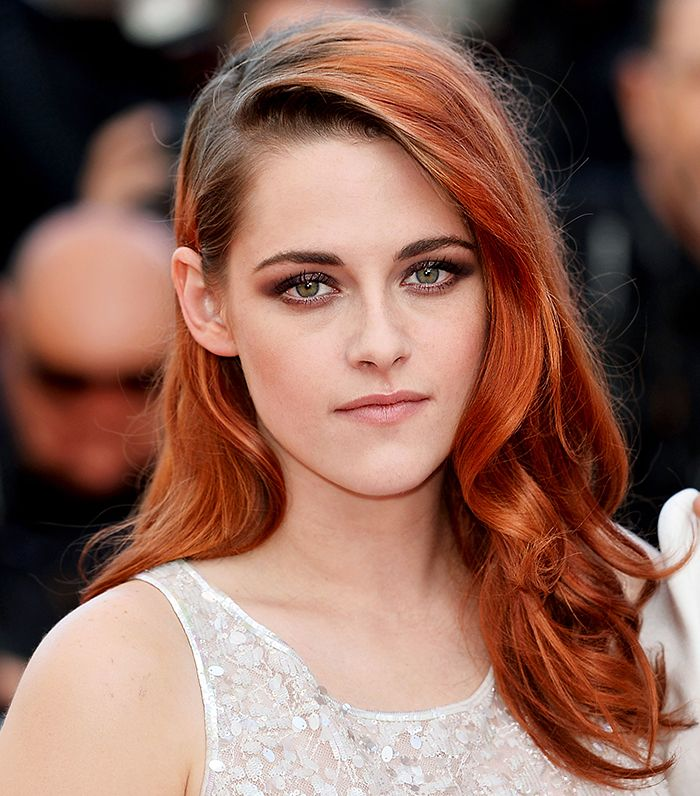 Love Kristen Stewart with bright red hair