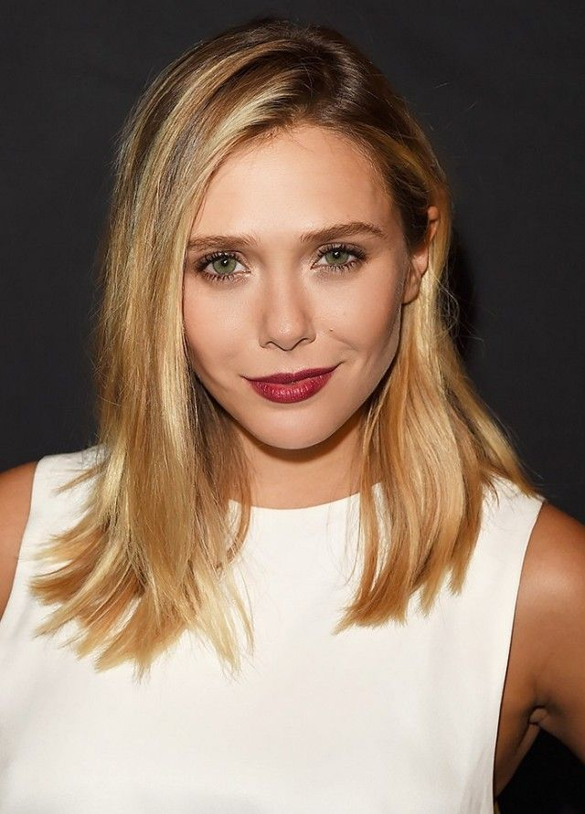 Medium length + layers on Elizabeth Olsen